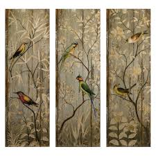 calima bird wall decor set of 3 hayneedle