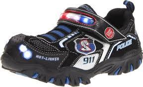 mens light up sketchers skechers boys damager police ii trainers black black black schwarz