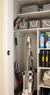 cleaning closet from coat closet to cleaning closet organizing in style polished