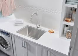 Laundry Room With Sink by Blanco Gives The Laundry Room A Stylish Makeover And Carefree