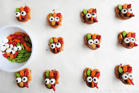 thanksgiving snacks for turkey pretzels from abcs to acts
