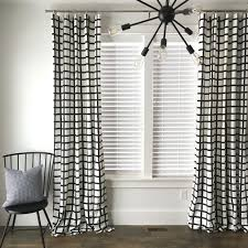 Black And White Checkered Curtains Trend Of Black And White Checkered Curtains And Windowpane Plaid