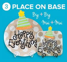 happy everything plate sale coton colors mini happy everything platter minis