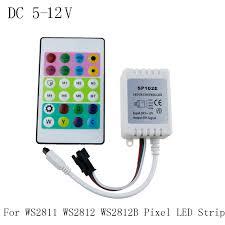 led strip lights remote ir remote controller dc 5v 12v for ws2812 rgb led strip test