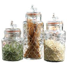 clear glass kitchen canisters clear glass kitchen canisters set of 3 decorative glass jars with
