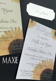 vistaprint wedding invitations sunflower wedding invitation sunflower wedding invitations by