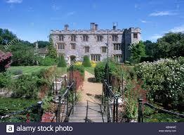 mannington hall norfolk england uk house garden and moat stock