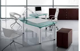 Glass Office Desk Extraordinary Glass Office Desk Magnificent Office Design Ideas