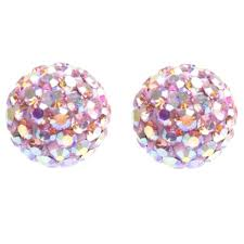 titanium stud earrings tresor 019314 orbite 8mm earrings titanium pink