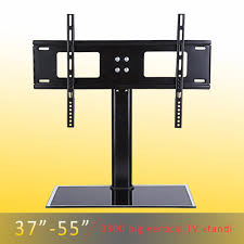 Wall Mounted Tv Height In A Bedroom Aliexpress Com Buy Height Adjustable 37 55 Inches Black Glass Tv