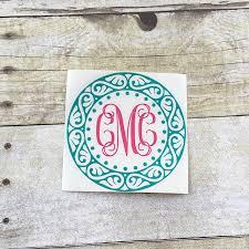 monogram stickers monogram sticker yeti decal monogrammed decal