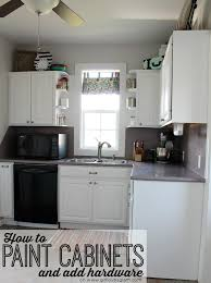 Painting Cabinet Hinges How To Paint Cabinets And Add Hardware Kitchen Makeover