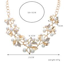 pearl necklace stores images Match right simulated pearl necklaces pendants leaves statement jpg