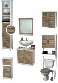 bathroom wall mounted cabinet 2 doors bamboo wood