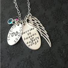 jewelry wings necklace images Loss of loved one angel wing necklace say anything jewelry by jpg