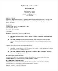 Sample Of Resume For Part Time Job By Student by Resume Sample 8 Examples In Word