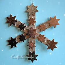 recycling craft for popsicle stick snowflakes