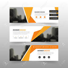layout banner template orange yellow abstract polygon corporate business banner template
