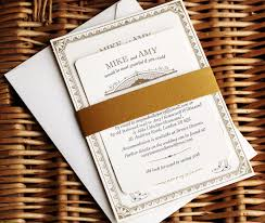 vintage style wedding invitations mike s vintage inspired gold letterpress wedding invitations