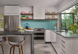 white kitchen cabinets with aqua backsplash 75 beautiful kitchen with glass tile backsplash pictures