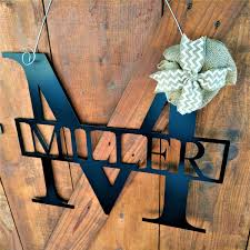 Metal Signs Home Decor Metal Letter Large Family Name Sign Wedding Guest Book Wedding