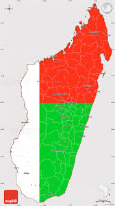 Madagascar Map Flag Simple Map Of Madagascar