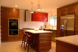 two tone cabinet design also subway wall tile feat small island