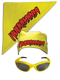 hulk hogan hulkamania bandana sunglasses costume ebay