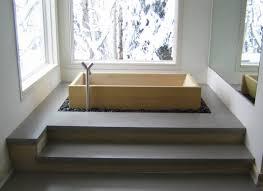 bathroom stunning corner bathtub design idea built in faucet wooden bathtub with steps brushed nickel faucet bathtub design ideas large wall mirror and window
