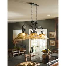stained glass kitchen island chandeliers faced off dark wooden
