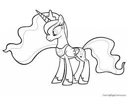 my little pony värityskuvat new princess luna coloring page glum me