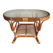 handmade coffee table oval coffee table alisa color light brown with glass top handmade