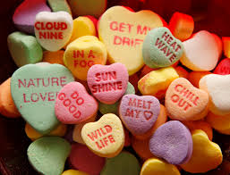 candy valentines heart messages valentinesday