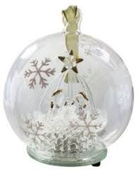 unison gifts light up glass white ornament unisongifts