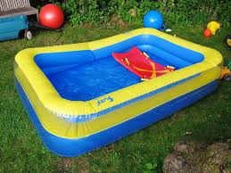 furniture blue and yellow walmart inflatable pool for outdoor