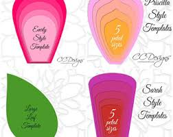 printable large flowers giant paper flower template printable pdf templates video
