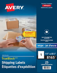 shipping labels avery 08165 11