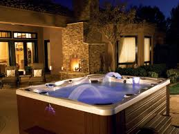 Fireplace Patio by Exterior Design Luxury Bullfrog Spas For Contemporary Outdoor Tub