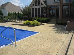 Backyard Stamped Concrete Patio Ideas by Stamped Concrete Pool Deck Pool Ideas Pinterest Concrete