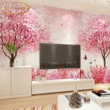 cherry blossom bedroom custom 3d photo wallpaper hand painted cherry blossom mural
