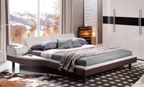 platform bed with built in nightstands inspirations including