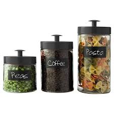 black kitchen canister sets decorating clear