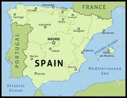 Spain And France Map by Map Of Spain Outline Illustration Country Map With Main Cities