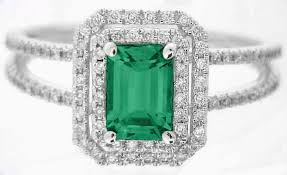 emerald gemstone rings images Green gemstone emerald ring in 14k white gold er 100 jpg
