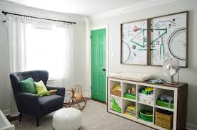 Green Curtains For Nursery A Colorful Door More Nursery House