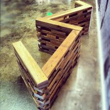 2x4 bench made of reclaimed wood reuse reclaim upcycle