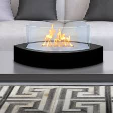 high gloss black lexington bio ethanol tabletop fireplace by