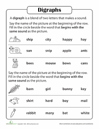 phonics practice test blends and digraphs phonics worksheets