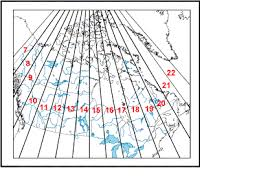 utm zone map of manitoba mchp gis manual map projections
