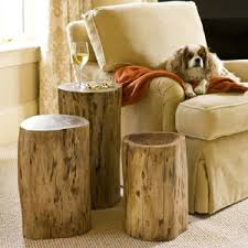 How To Make A Tree Stump End Table by Tree Trunk Side Table Roselawnlutheran